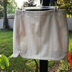 J.Crew Cream Wool Mini Skirt